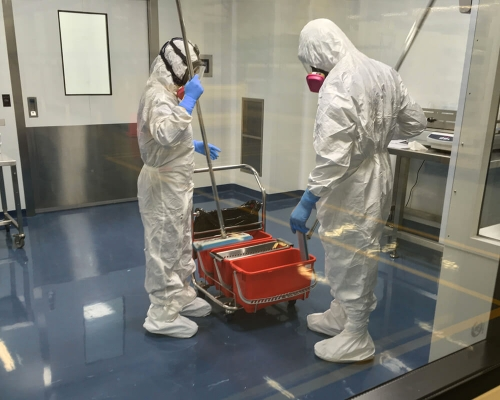 Our experienced teams consists of GDP Team, Team Leads, GMP trained staff, and certified SteraMist disinfection specialists.