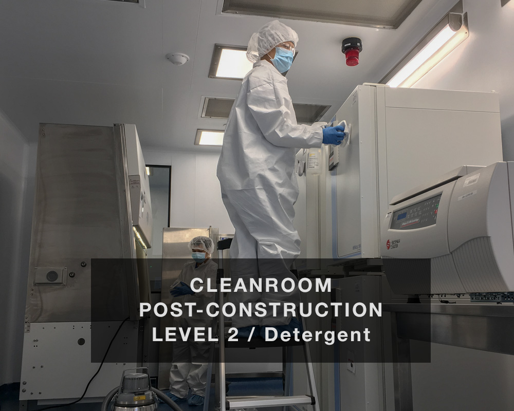 Cleanroom Post-construction Level 2: Detergent